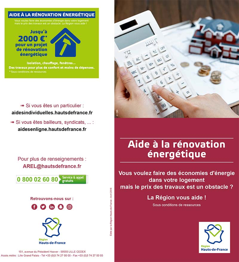 AIDE RENOVATION ENERGETIQUE REGION 1